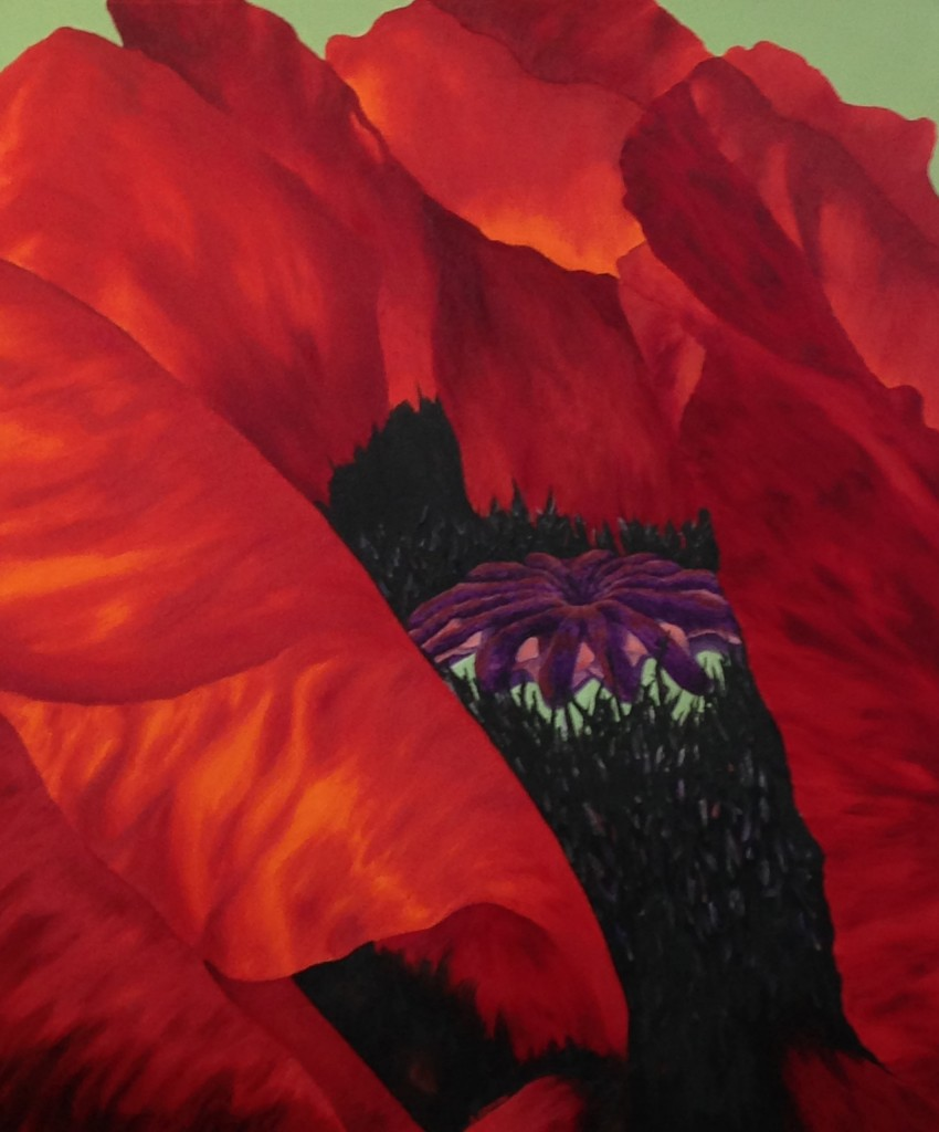 The Fire Poppy by Sandy Jomini at Caramel Cookie Waffles